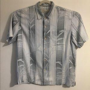 Tommy Bahama palm print silk shirt. XLarge